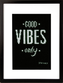 Good Vibes cross Stitch Kit By Vervaco