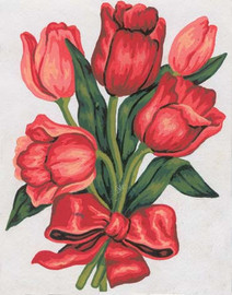 Tulips in a Bow Canvas only By Grafitec