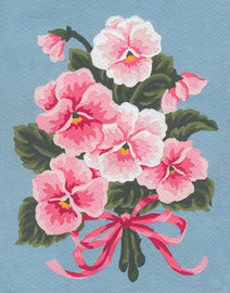 Pink Pansies Canvas only By Grafitec