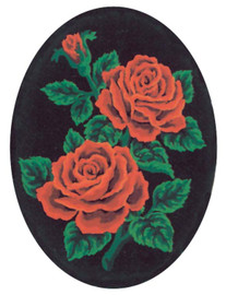 Red Roses Canvas only By Grafitec