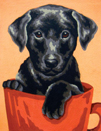 Puppy in a Cup Canvas only By Grafitec