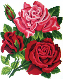 Rose Posy Canvas only By Grafitec