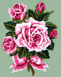 Roses tied with a Bow Canvas only By Grafitec