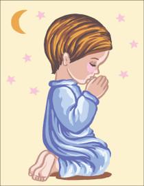 Bedtime Prayer Boy Canvas only By Grafitec