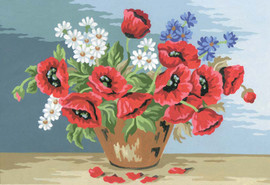 Poppy Bouquet Canvas only By Grafitec