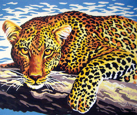 Leopard Look Canvas only By Grafitec
