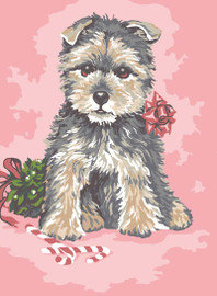 Dressed up Pup Canvas only By Grafitec