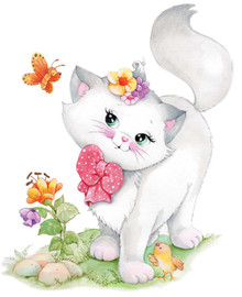 Pretty Kitty Canvas only By Grafitec
