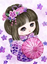 Sweet Geisha Parasol Canvas only By Grafitec