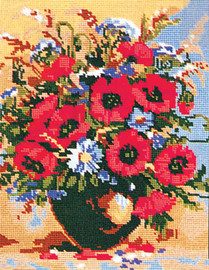 Poppies and Cornflowers Canvas only By Grafitec