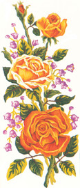 Yellow Roses Canvas only By Grafitec