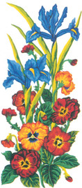 Pansies and Iris Canvas only By Grafitec