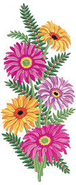Gerberas Canvas only By Grafitec