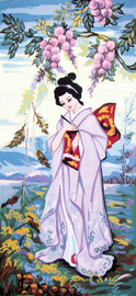 Lavender Geisha Canvas only By Grafitec