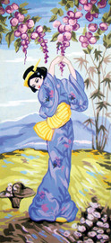 Wisteria Geisha Canvas only By Grafitec