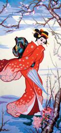 Cherry Blossom Geisha Canvas only By Grafitec