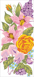 Roses and Lillies Canvas only By Grafitec