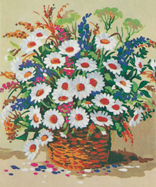 Basket of Daisies Canvas only By Grafitec