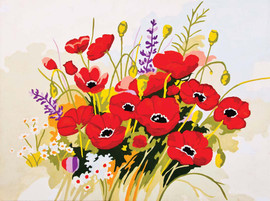 Wild Poppies Canvas only By Grafitec