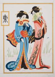 Geisha Pair Canvas only By Grafitec