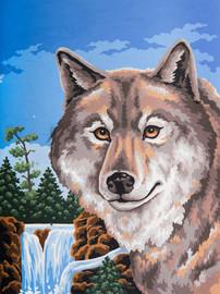 Wolf Portrait Canvas only By Grafitec