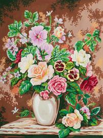 Floral Arrangement Canvas only By Grafitec