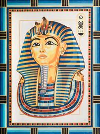 King Tutankhamun Canvas only By Grafitec