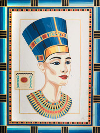 Queen Nefertiti Canvas only By Grafitec