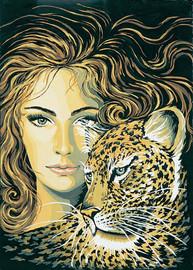 Leopard Maiden Canvas only By Grafitec