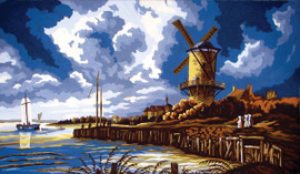 Stormy Windmill Canvas only By Grafitec