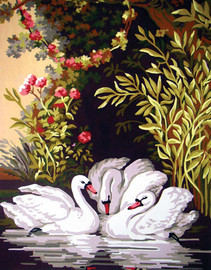 Swans in the Shade Canvas only By Grafitec