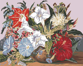 Tropical Posy Canvas only By Grafitec