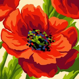 Summer Poppy Canvas only By Grafitec
