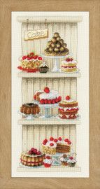 Delicious Cakes  Cross Stitch Kit By Vervaco