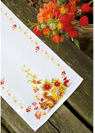 Squirrel in Autumn  Cross Stitch Kit By Vervaco