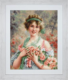 The Girl with Roses Cross Stitch Kit by Luca-S