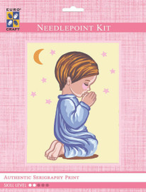 Angel Boy Silhouette Moon & Stars  Tapestry Kit By Grafitec