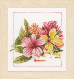 Amaryllis Bouquet  Cross Stitch Kit By Lanarte