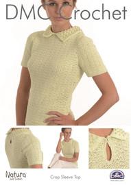 Crop Sleeve Top  Crochet Pattern Leaflet  By DMC