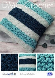 Sea Breeze Ruffle Cushion  Crochet Pattern by DMC
