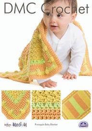 Pineapple Baby Blanket  Crochet Pattern by DMC