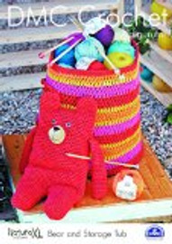 Bear And Storage Tub  Crochet Pattern by DMC