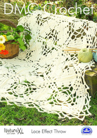 Lace Effect Throw  Crochet Pattern by DMC