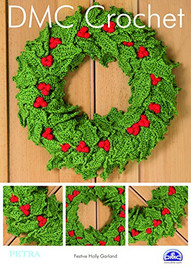 Festive Holly Garland Crochet Pattern By DMC