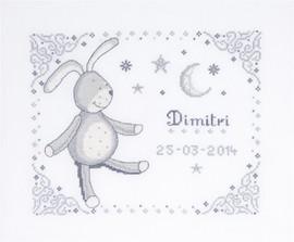 Rabbit First Name Sampler Cross Stitch Kit By DMC
