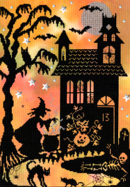 Pumpkin House Printed Cross Stitch Kit By Bothy Threads