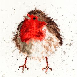 Jolly Robin Cross Stitch Kit By Bothy Threads