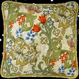 William Morris: Golden Lily Full Colour Printed Tapestry Kit