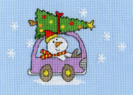 Dashing Through The Snow Cross Stitch Card Kit By Bothy Threads