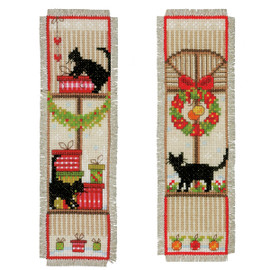 Christmas Atmosphere (Set of 2) Bookmark Cross Stitch Kit By Vervaco
